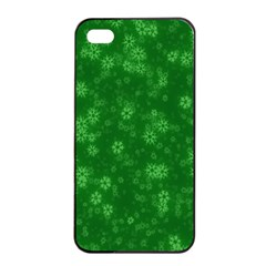 Snow Stars Green Apple iPhone 4/4s Seamless Case (Black)
