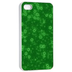 Snow Stars Green Apple Iphone 4/4s Seamless Case (white)