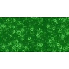 Snow Stars Green YOU ARE INVITED 3D Greeting Card (8x4)