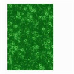 Snow Stars Green Small Garden Flag (Two Sides)