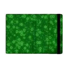 Snow Stars Green Apple iPad Mini Flip Case