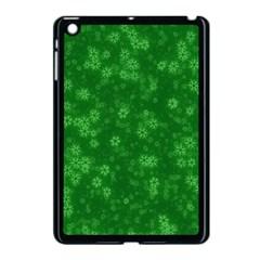 Snow Stars Green Apple iPad Mini Case (Black)