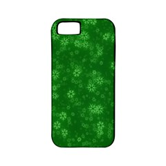 Snow Stars Green Apple Iphone 5 Classic Hardshell Case (pc+silicone)
