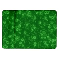Snow Stars Green Samsung Galaxy Tab 10.1  P7500 Flip Case