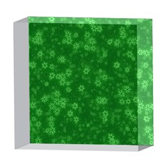 Snow Stars Green 5  x 5  Acrylic Photo Blocks