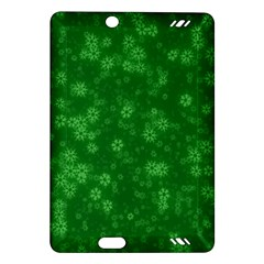 Snow Stars Green Kindle Fire HD (2013) Hardshell Case