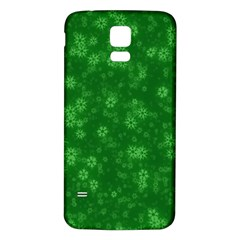 Snow Stars Green Samsung Galaxy S5 Back Case (White)