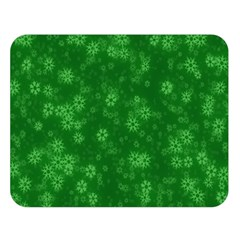 Snow Stars Green Double Sided Flano Blanket (large)