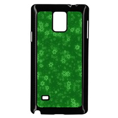 Snow Stars Green Samsung Galaxy Note 4 Case (black)