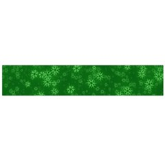 Snow Stars Green Flano Scarf (Large)