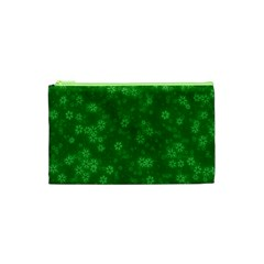 Snow Stars Green Cosmetic Bag (xs)