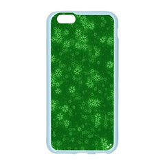 Snow Stars Green Apple Seamless iPhone 6/6S Case (Color)