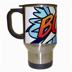 Comic Book Boy! Travel Mugs (White)