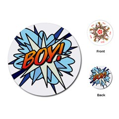 Comic Book Boy! Playing Cards (Round)