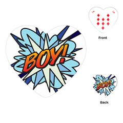 Comic Book Boy! Playing Cards (heart)