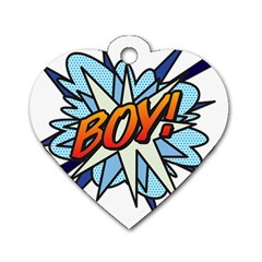 Comic Book Boy! Dog Tag Heart (One Side)
