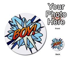 Comic Book Boy! Multi Purpose Cards (round)