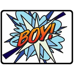 Comic Book Boy! Fleece Blanket (Large)