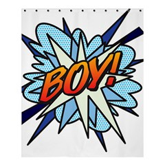 Comic Book Boy! Shower Curtain 60  x 72  (Medium)