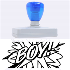 Comic Book Boy! Rubber Address Stamps (XL)
