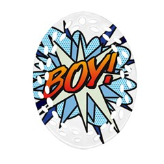 Comic Book Boy! Oval Filigree Ornament (2-Side)