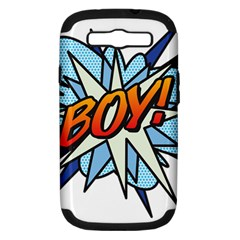 Comic Book Boy! Samsung Galaxy S III Hardshell Case (PC+Silicone)