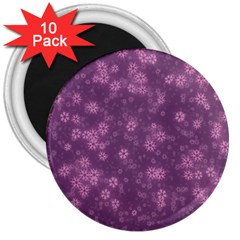 Snow Stars Lilac 3  Magnets (10 pack)