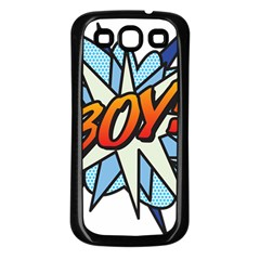 Comic Book Boy! Samsung Galaxy S3 Back Case (Black)