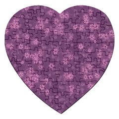 Snow Stars Lilac Jigsaw Puzzle (Heart)