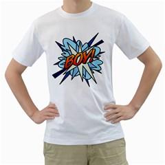 Comic Book Boy! Men s T-Shirt (White)