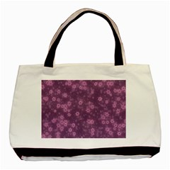Snow Stars Lilac Basic Tote Bag (Two Sides)