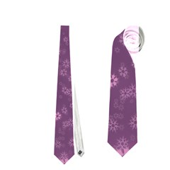 Snow Stars Lilac Neckties (two Side)