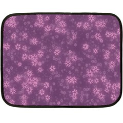 Snow Stars Lilac Fleece Blanket (mini)