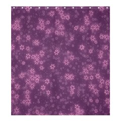 Snow Stars Lilac Shower Curtain 66  X 72  (large)