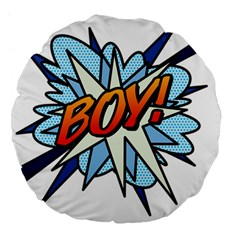Comic Book Boy! Large 18  Premium Flano Round Cushions