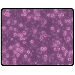 Snow Stars Lilac Fleece Blanket (medium)