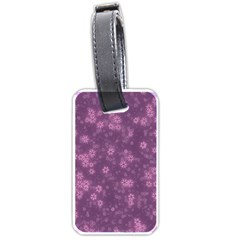 Snow Stars Lilac Luggage Tags (One Side)