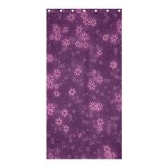 Snow Stars Lilac Shower Curtain 36  X 72  (stall)