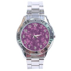 Snow Stars Lilac Stainless Steel Men s Watch