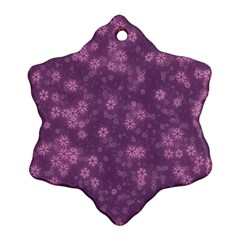 Snow Stars Lilac Snowflake Ornament (2 Side)