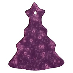 Snow Stars Lilac Christmas Tree Ornament (2 Sides)