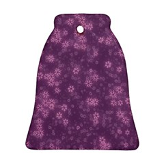 Snow Stars Lilac Bell Ornament (2 Sides)