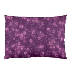 Snow Stars Lilac Pillow Cases (Two Sides)