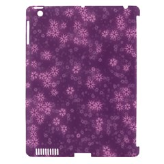Snow Stars Lilac Apple iPad 3/4 Hardshell Case (Compatible with Smart Cover)