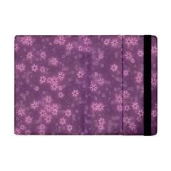 Snow Stars Lilac Apple iPad Mini Flip Case