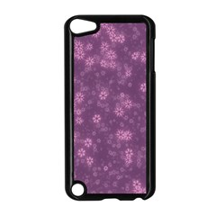Snow Stars Lilac Apple iPod Touch 5 Case (Black)