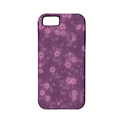 Snow Stars Lilac Apple iPhone 5 Classic Hardshell Case (PC+Silicone)