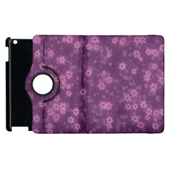 Snow Stars Lilac Apple Ipad 2 Flip 360 Case
