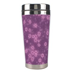 Snow Stars Lilac Stainless Steel Travel Tumblers