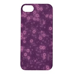 Snow Stars Lilac Apple iPhone 5S Hardshell Case